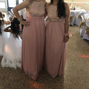 RoseQuartz long dress used once perfect condition